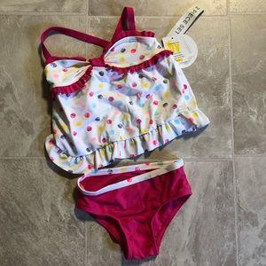 4T 2 piece bathing suit NWT